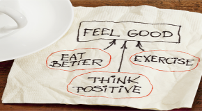 napkin with text feel good
